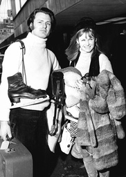 Actress Jennie Linden With Husband Christopher Mann.