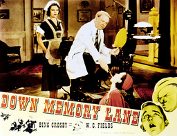 DOWN MEMORY LANE, main image from left: Zedna Farley, W.C. Fields, Elise Cavanna, lower right: Bing