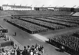 Great muster of the Hitler Youth on the Nuremberg Rally, 1936