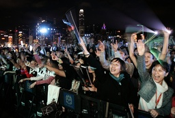 Thousands of revellers gather to celebrate the countdown to the new year in Hong Kong