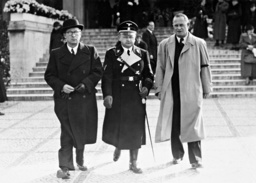 Oswald Lehnich and Karl Auen at the cremation of Renate Mueller, 1937