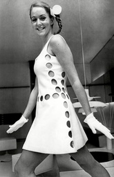 Fashion Women 1968 Model Wearing Fashions From Courreges.