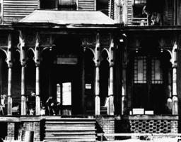 Hotel/ Hotelstufen 'U.S. Hotel'/New York - Hotel Steps'U.S. Hotel'/ N.Y. / W.Evans -