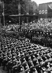 Parade before Adolf Hitler in Weimar, 1936