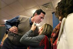Santorum Rises In Polls As He Continues Iowa Campaign