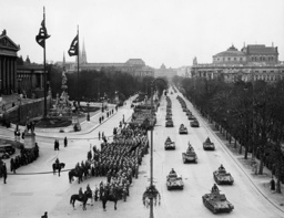 'Anschluss' of Austria 1938 - First military parade of the Wehrmacht