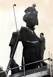 Nelson''s Column In Trafalgar Square Showing The Statue Of Admiral Lord Nelson Under Cleaning And Restoration 1968
