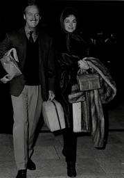David Niven Actor With Wife Hjordis Tersmeden At London Airport 1962.