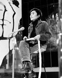 JOHN LENNON AND YOKO ONO ON TOP OF THE POPS TV SHOW - 12 FEB 1970