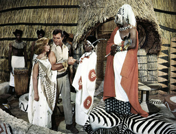 WATUSI, from left, Taina Elg, George Montgomery 1959