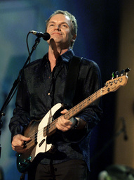 STING SINGS AT NETAID IN NEW JERSEY