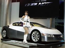 HONDA'S CONCEPT HYBRID SPORT CAR DUALNOTE DISPLAYED AT 35TH TOKYO MOTOR SHOW 2001 IN MAKUHARI