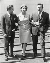 Author And Journalist Shirley Lord With Fashion Designer Brothers Harold Wallis And Jeffrey Wallis (right) Shirley Lord Was Born In London Where Her Career Began On Fleet Street As A Journalist At The Age Of 17. Before She Left England For The U.s. I