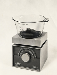 Ideal Home Exhibition 1974. Pictured Are Kitchen Scales By Pyrex On Show At The Exhibition.