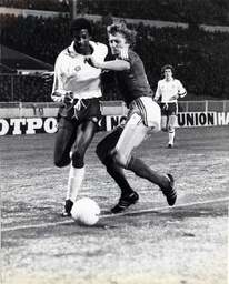 Viv Anderson (left) Of England Races Past Czech Defender Koloman During The England V Czechoslovakia Friendly International At Wembley. England Won The Game 1-0. Viv Anderson Became The Ist Black Man To Win A Full England Cap