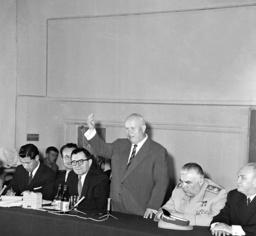 Nikita Khrushchev, Andrei Gromyko,Rodion Malinovsky