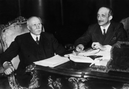 Henri Philippe Petain and Georges Bonnet in the Quai d'Orsay, 1939