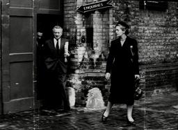 Rose Heilbron Q.c. And Mr Sebag Shaw Leaving Brixton Prison After Visiting Jack Comer Aka Jack Spot. Miss Heilbron Is Leading Comer's Defence On A Stabbing Charge.