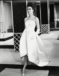 Fashion Women 1962 Model Wearing Street Fashions.