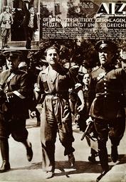 Verhaftung span.Antifa / aus: AIZ - Arrest of anti-fascist / Spain / 1936 - Arrestation d'un anti-fasciste / Espagne / 1936