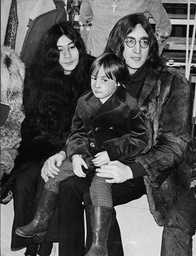 John Lennon Yoko Ono And John''s Son Julian At The Rolling Stones ''rock And Roll Circus'' The Couple Married March 1969 1968
