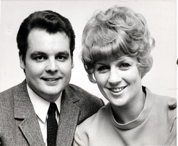 Composer Tony Hatch With His Wife The Singer Jackie Trent.