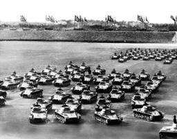 Tanks parading on the Nuremberg Rally 1936