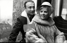 Actor Nick Adams With His Wife Actress Carol Nugent Nick Adams (july 10 1931 Oo February 7 1968) Was An Academy Award Nominated American Film And Television Actor. He Was Noted For His Roles In Several Successful Hollywood Films During The 1950s And