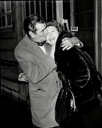 Actor Jack Hawkins With Wife Doreen Hawkins After He Leaves Hospital For Throat Cancer Treatment 1966.