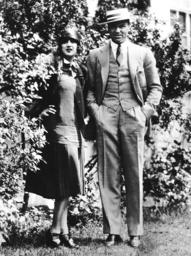 Jack Dempsey, right, and his second wife, actress Estelle Taylor, at a Colorado training camp, late