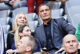 Ex FCB Walter Junghans mit Ehefrau FC BAYERN MÜNCHEN TSG 1899 HOFFENHEIM 3 3 Fussball 1 Bunde