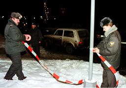 RUSSIAN POLICEMEN SEAL OFF AREA AROUND SWEDISH EMBASSY