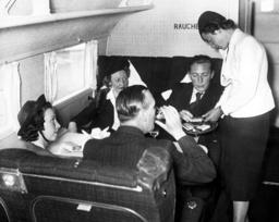 Passengers in the smoking cabin of a Focke-Wulf 200 Condor, 1938