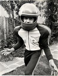 John Burridge Footballer. Crystal Palace Goalkeeper Dressed As An American Footballer