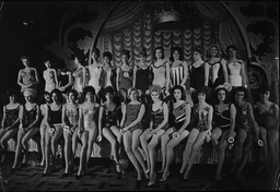 The Line Up For The 1962 Miss World Competition