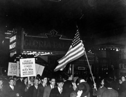 Demonstration against National Socialism before the Yorkville Casino in New York, 1938