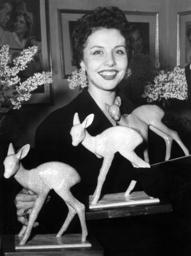 Sonja Ziemann with her Bambis