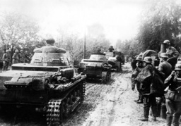 German tanks during the Polish campaign