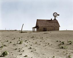 Dürre in Texas, USA, 1938 /Farmhaus/Foto - Drought in Texas, USA, 1938 / Farm house / Photo, June 1938 - Sécheresse au Texas, USA, 1938 / Ferme / Photo
