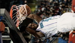 EAST GELN RICE SLAM DUNKS DURING NBA ALL STAR GAME