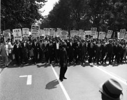 Martin L.King beim Marsch auf Washington - March on Washington 1963, M.L.King/Photo - Marche sur Washington, 28 août 1963 (200 000 américains mani