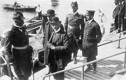 Arrival of Count Maximilian von Spee in Valparaiso, 1914