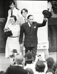 Mr And Mrs Jeremy Thorpe After The Aquital At The Old Bailey Thorpe Was Put On Trial At Number One Court At The Old Bailey On 8 May 1979 A Week After Losing His Seat. He Was Charged With Attempted Murder And Conspiracy To Murder. One Of The Chief Pro