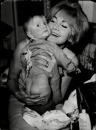 Actress Sheila Hancock With Baby Daughter Melanie Jane 1965.