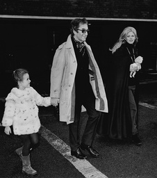 Actor Peter Sellers Actress Britt Ekland And Their Daughter Victoria Sellers At Heathrow Airport In 1970.