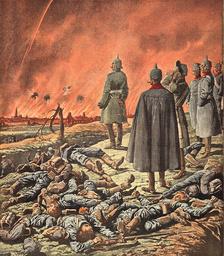 Wilhelm II. vor Arras / aus: Pet.Journal - Wilhelm II / Arras / Petit Journal /1914 - Guil. II devant Arras / Le Petit Journal