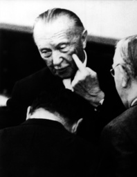 Adenauer during question time concerning Spiegel scandal