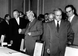 Adenauer during Soviet-German talks