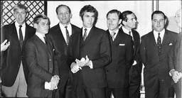 Man Of The Year Awards In 1968 Athlete David Hemrey Lt. Colin Mitchell Boxer Henry Cooper Boxer Chris Finnegan Graham Hill Professor Christian Barnard Colin Cowdray And Ir Alec Rose.
