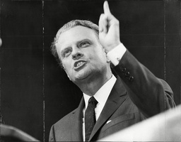 American Evangelist Billy Graham Makes A Speech At Earls Court.